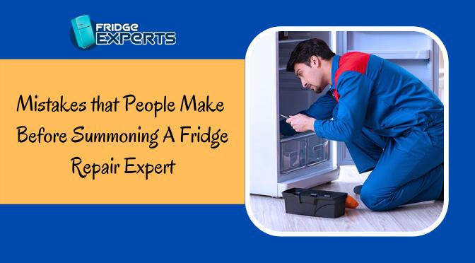 Mistakes that People Make Before Summoning A Fridge Repair Expert
